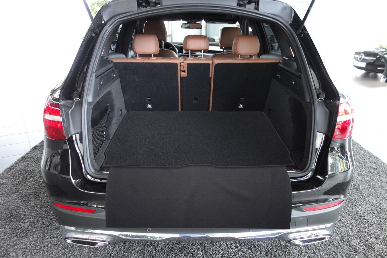 2 pi ces tapis de sol de voitures du coffre pour mercedes glc x253 ann e 09 2015 tapis de. Black Bedroom Furniture Sets. Home Design Ideas