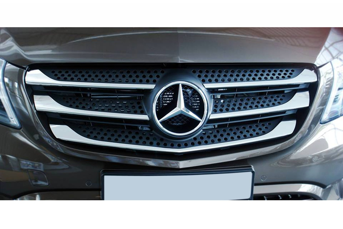 stainless steel grill bars for mercedes vito viano w447. Black Bedroom Furniture Sets. Home Design Ideas
