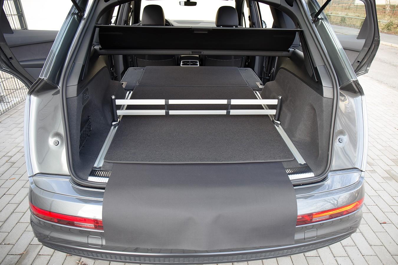 3 pi ces tapis de sol de voitures du coffre pour audi q7 ii 4m ann e 2015 tapis de coffre. Black Bedroom Furniture Sets. Home Design Ideas