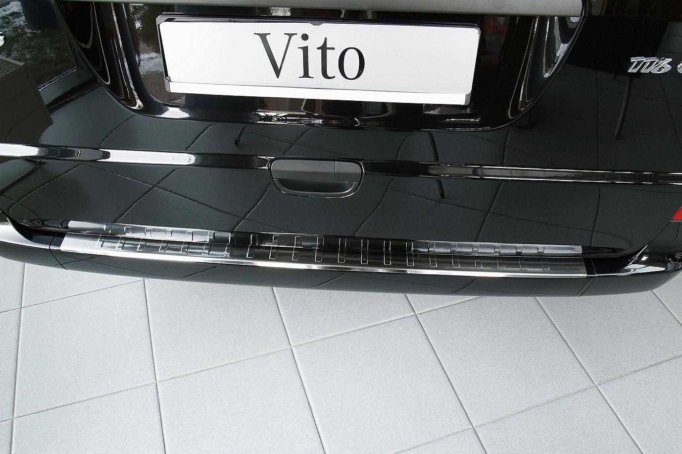 acier inox protection pare choc pour mercedes vito viano. Black Bedroom Furniture Sets. Home Design Ideas