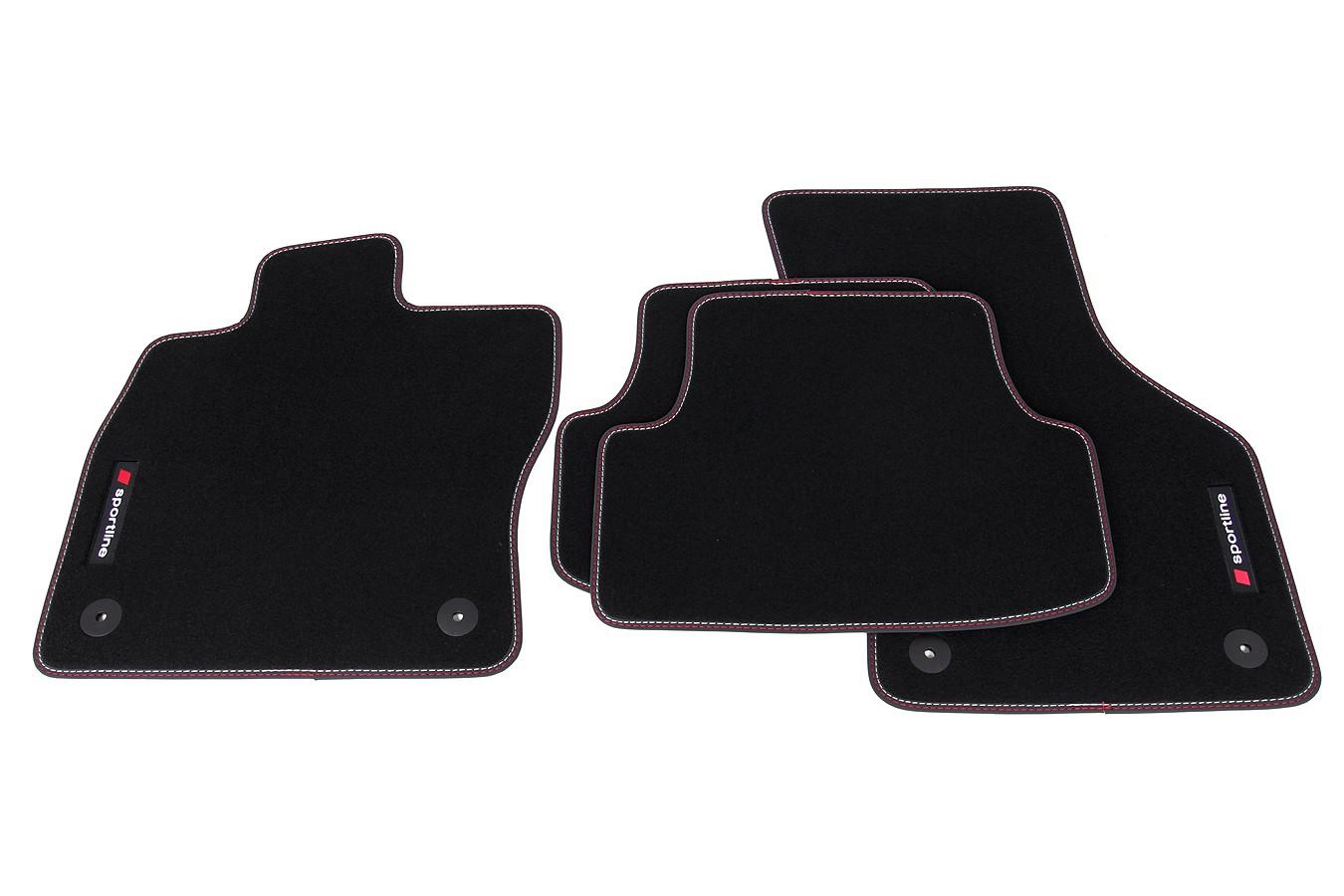 premium sportline fu matten f r seat leon 3 iii 5f ab bj. Black Bedroom Furniture Sets. Home Design Ideas