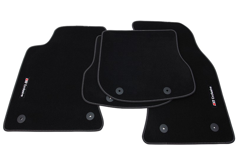 exclusive line floor mats for audi a4 b5 8d 1999 2001 lhd. Black Bedroom Furniture Sets. Home Design Ideas