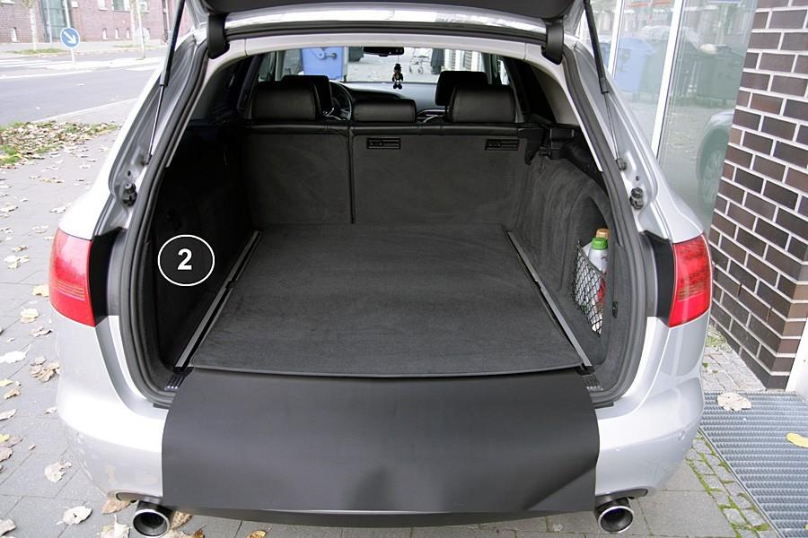 3 pi ces tapis de coffre pour audi a6 4f avant 2005 2011 tapis de coffre pour audi. Black Bedroom Furniture Sets. Home Design Ideas